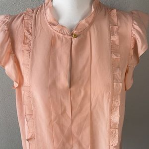 Tori Burch Peach Silk Blouse-NWOT